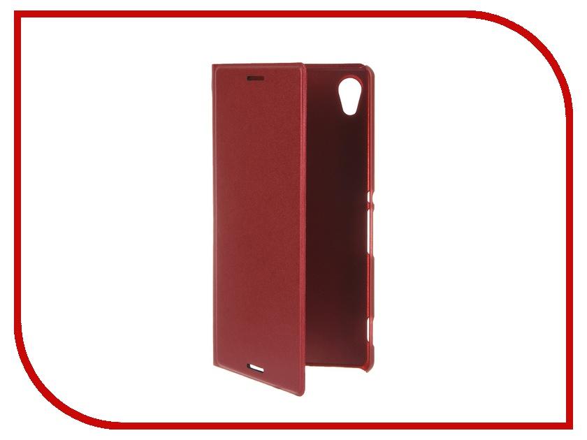 Аксессуар Чехол-книжка Sony Xperia M4 Aqua BROSCO PU Dark-Red M4A-BOOK-DARKRED<br>