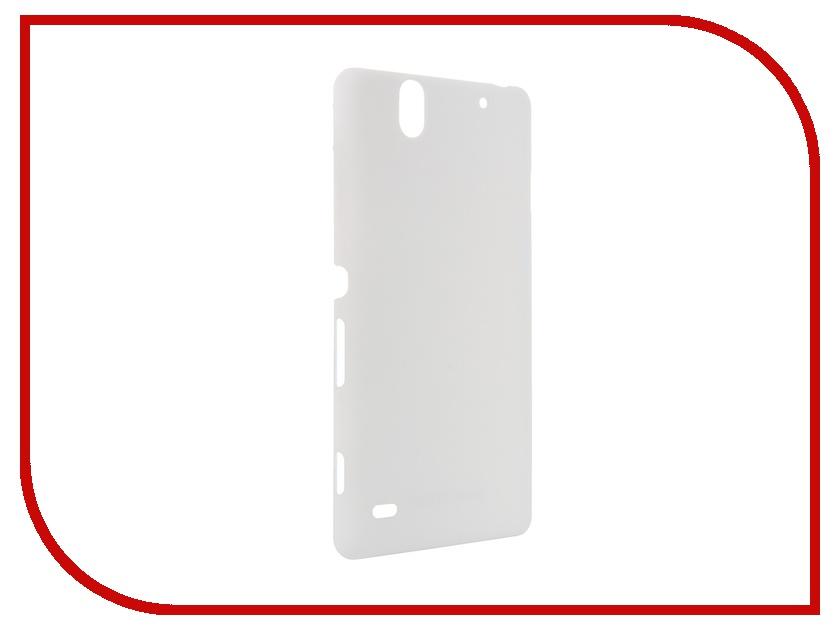 Аксессуар Чехол-накладка Sony Xperia C4 BROSCO пластиковый White C4-SOFTTOUCH-WHITE chiaro паула 8 411013808
