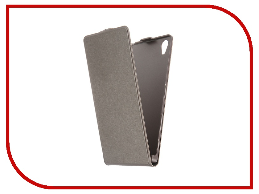Аксессуар Чехол Sony Xperia Z5 Premium BROSCO Silver Z5P-SLIMFLIP-DARKSILVER<br>