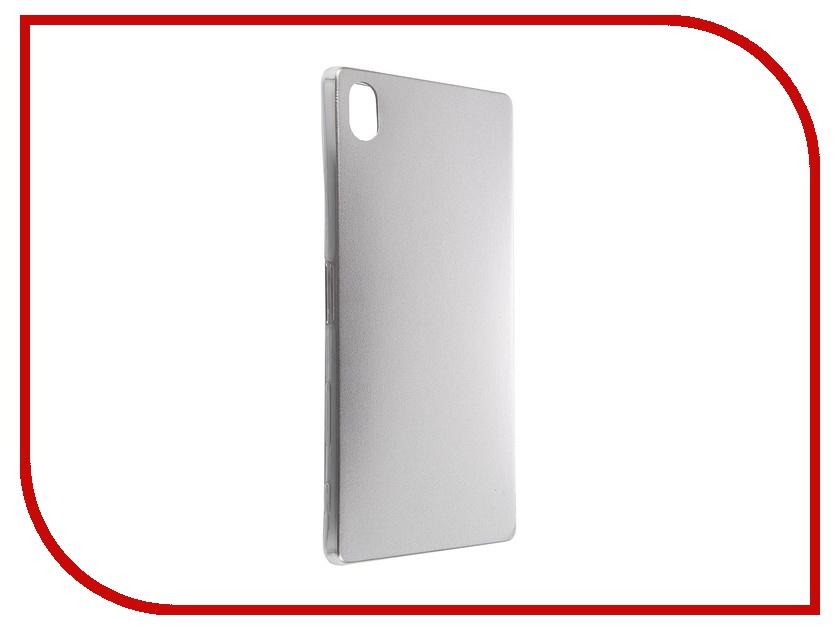 Аксессуар Чехол Sony Xperia Z5 Premium BROSCO Silver Z5P-LEATHER-TPU-SILVER<br>