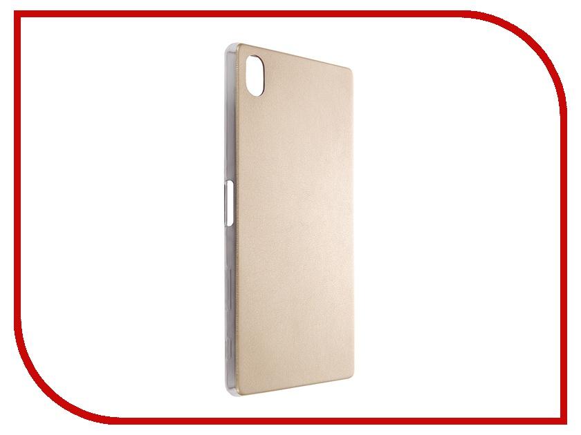 ��������� ����� Sony Xperia Z5 Premium BROSCO Gold Z5P-LEATHER-TPU-GOLD