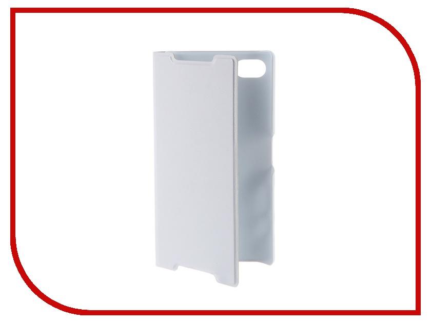 Аксессуар Чехол Sony Xperia Z5 Compact BROSCO White Z5C-BOOK-WHITE<br>
