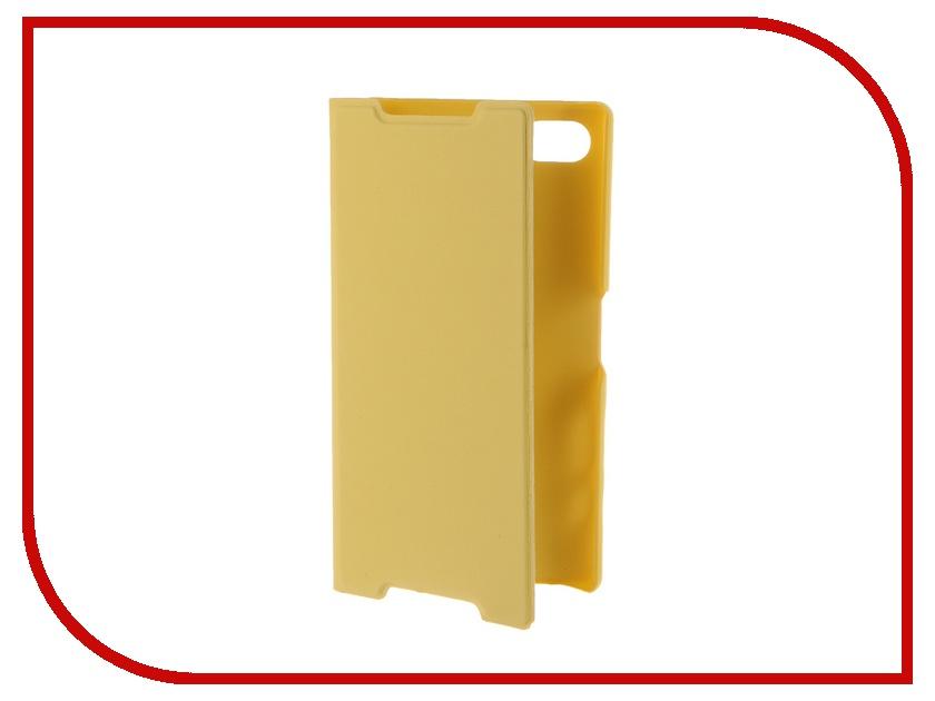 Аксессуар Чехол Sony Xperia Z5 Compact BROSCO Yellow Z5C-BOOK-YELLOW<br>