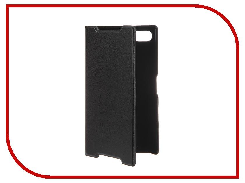 Аксессуар Чехол Sony Xperia Z5 Compact BROSCO Black Z5C-BOOK-BLACK<br>