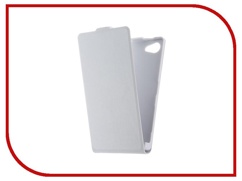 Аксессуар Чехол Sony Xperia Z5 Compact BROSCO White Z5C-SLIMFLIP-WHITE<br>