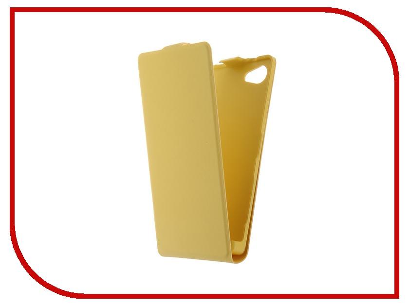 Аксессуар Чехол Sony Xperia Z5 Compact BROSCO Yellow Z5C-SLIMFLIP-YELLOW<br>