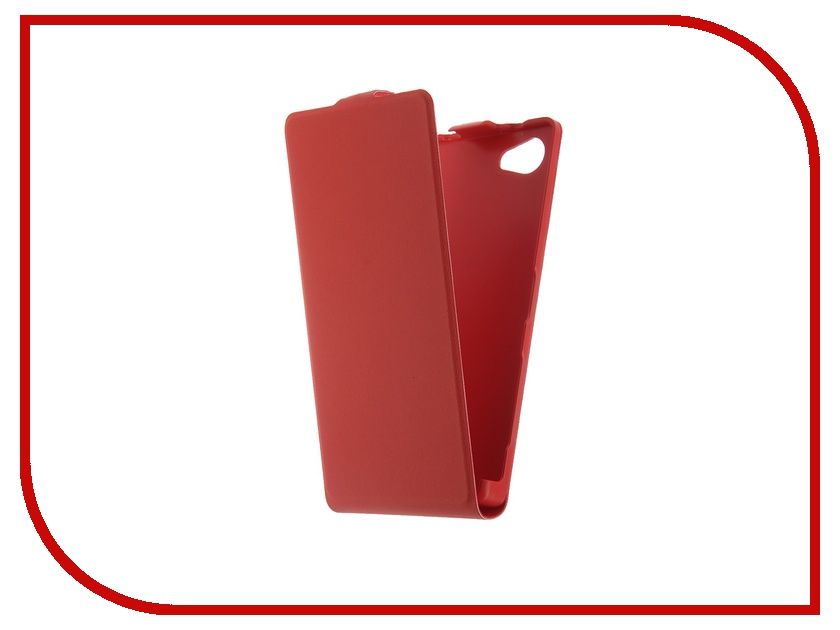 Аксессуар Чехол Sony Xperia Z5 Compact BROSCO Red Z5C-SLIMFLIP-RED<br>
