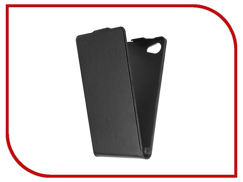 Аксессуар Чехол Sony Xperia Z5 Compact BROSCO Black Z5C-SLIMFLIP-BLACK аксессуар чехол htc u ultra brosco black htc uu book black