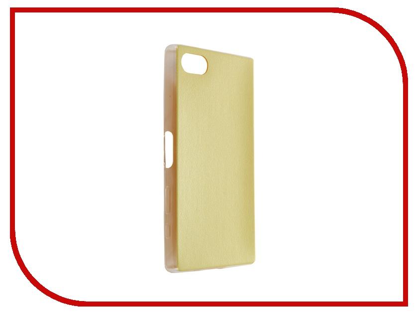 Аксессуар Чехол Sony Xperia Z5 Compact BROSCO Yellow Z5C-LEATHER-TPU-YELLOW<br>