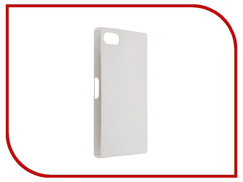 Аксессуар Чехол Sony Xperia Z5 Compact BROSCO White Z5C-LEATHER-TPU-WHITE<br>