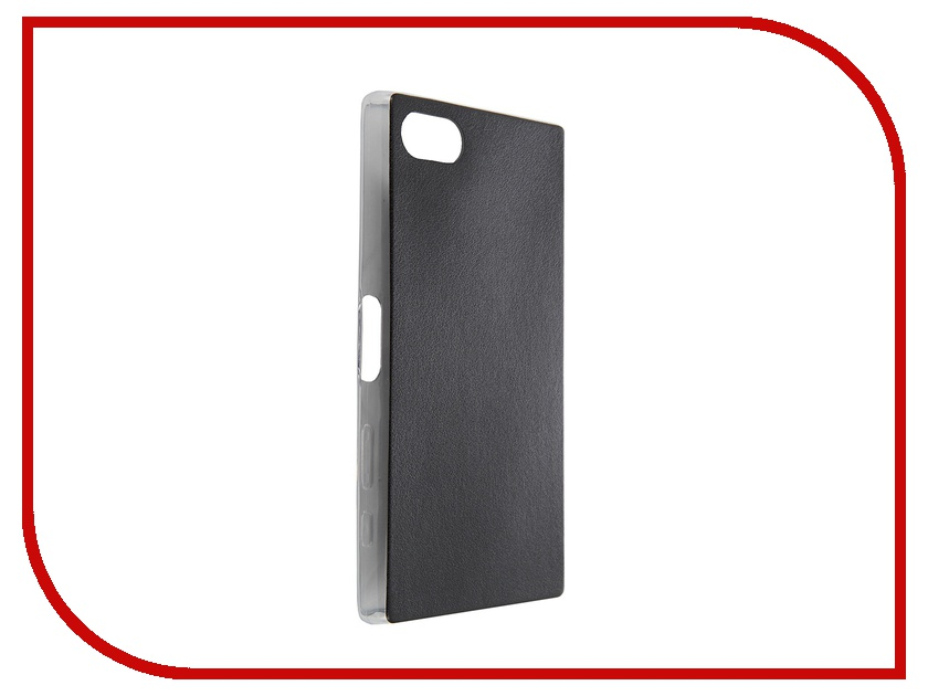 Аксессуар Чехол Sony Xperia Z5 Compact BROSCO Black Z5C-LEATHER-TPU-BLACK<br>