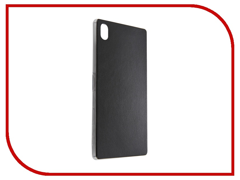 Аксессуар Чехол Sony Xperia Z5 Premium BROSCO Black Z5P-LEATHER-TPU-BLACK<br>