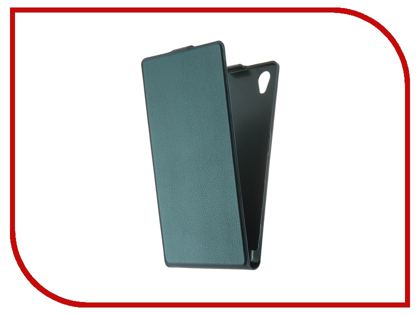 Аксессуар Чехол Sony Xperia Z5 BROSCO Dark-Green Z5-SLIMFLIP-DARKGREEN<br>