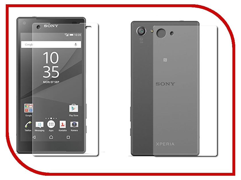 ��������� �������� ������ Sony Xperia Z5 Compact BROSCO 0.15mm + 0.3mm Front&Back Z5C-SS-FRONT&BACK-GLASS