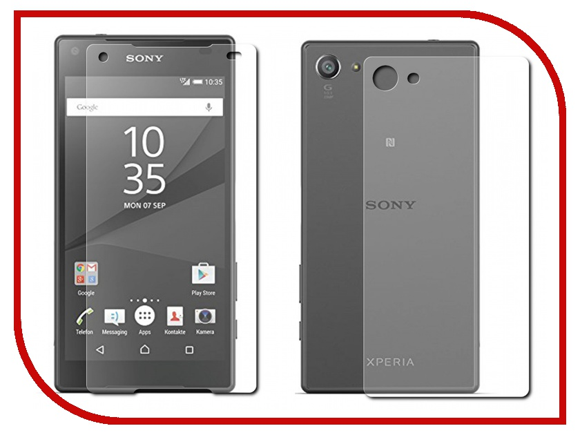 Аксессуар Защитное стекло Sony Xperia Z5 Compact BROSCO 0.3mm Front&amp;Back Z5C-FRONT&amp;BACK-GLASS<br>