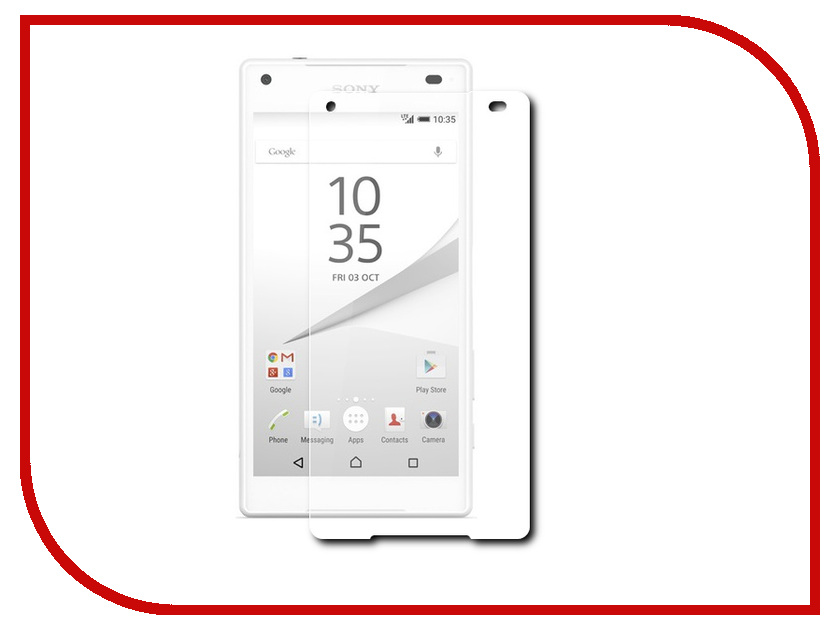 Аксессуар Защитное стекло Sony Xperia Z5 Compact BROSCO 0.15mm Z5C-SUPERSLIM-GLASS<br>