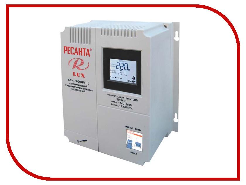 Стабилизатор Ресанта АСН-3000Н/1-Ц Lux стабилизатор электронного типа настенный асн 10 000 н 1 ц lux ресанта