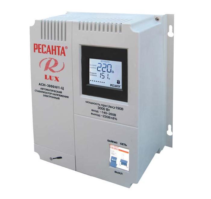 Стабилизатор Ресанта АСН-3000Н/1-Ц Lux цена