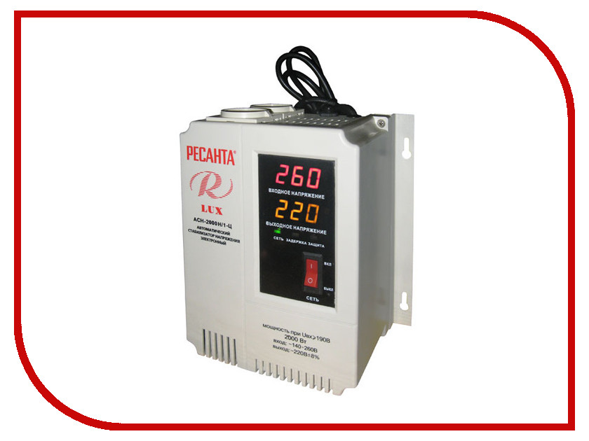 Стабилизатор Ресанта АСН-2000 Н/1-Ц Lux стабилизатор электронного типа настенный асн 10 000 н 1 ц lux ресанта