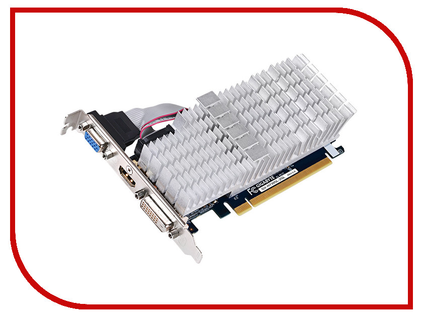 Видеокарта GigaByte GeForce GT 730 902Mhz PCI-E 2.0 2048Mb 1800Mhz 64 bit DVI HDMI HDCP Silent GV-N730SL-2GL gv n1070g1 gaming 8gd gigabyte