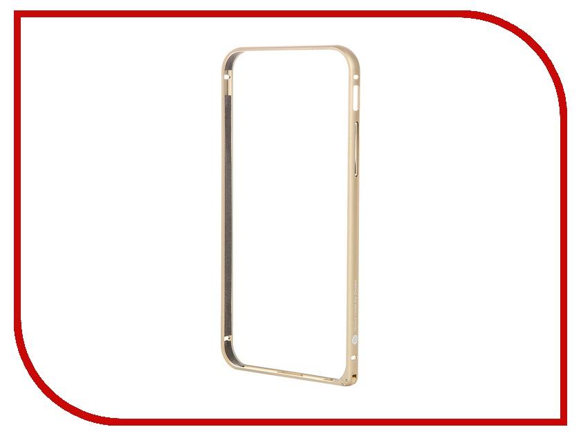 Аксессуар Чехол Deppa Alum Bumper для iPhone 6 Gold