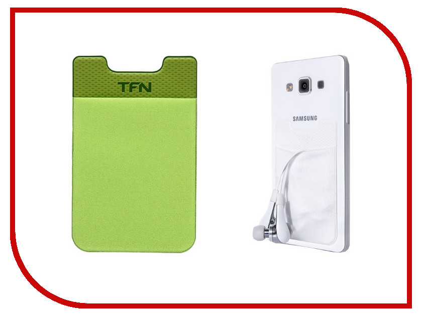Аксессуар TFN Кармашек для кредитных карт Green