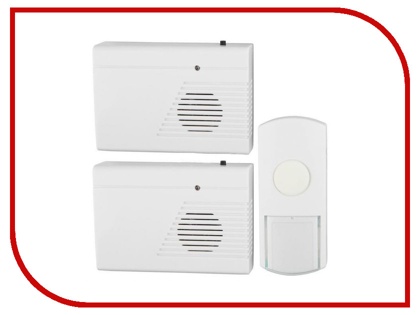 Звонок дверной Эра C27-2 Б0018969 White беспроводной