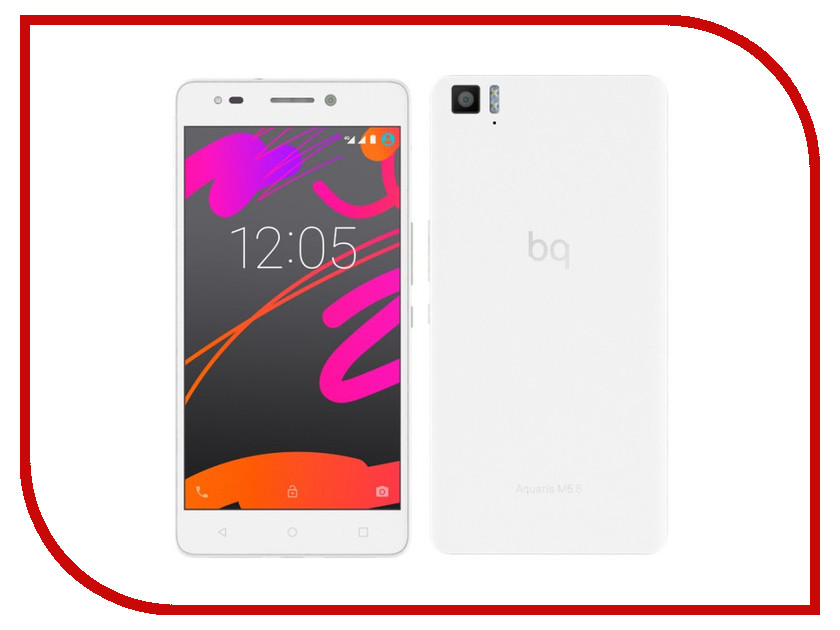Фото Сотовый телефон BQ Aquaris M5.5 3Gb RAM 32Gb White сотовый телефон bq aquaris u2 lite 2gb ram 16gb carbon black