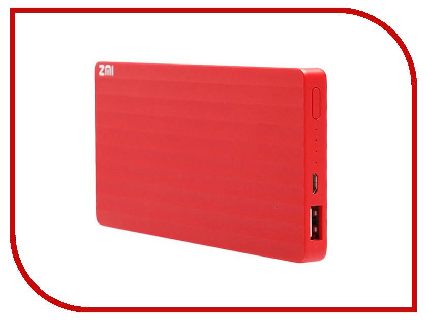 Аккумулятор Xiaomi Mi ZMI PB810 10000 mAh Red<br>