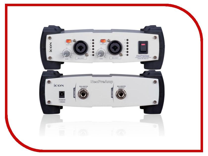 Аудиоинтерфейс ICON Neo PreAmp микрофонный предусилитель предусилитель стерео icon audio ba 2 mk ii