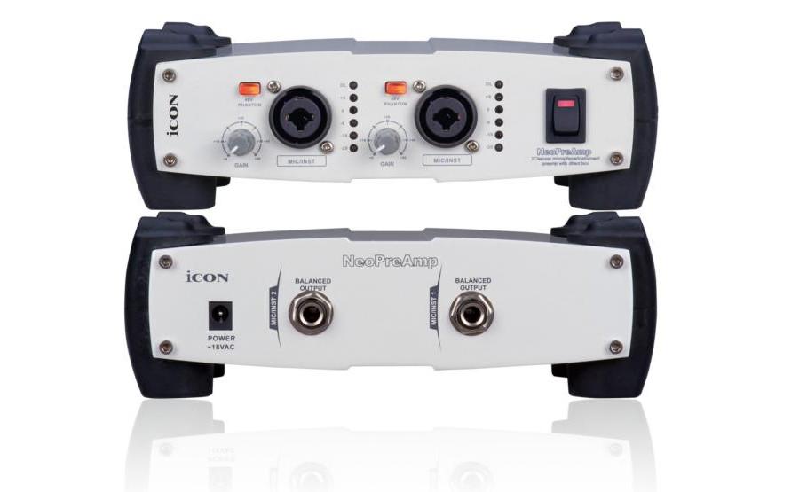 Аудиоинтерфейс ICON Neo PreAmp микрофонный предусилитель