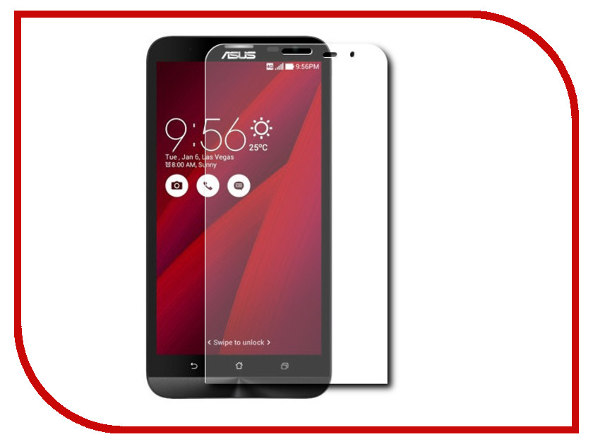 Аксессуар Защитное стекло ASUS ZenFone 2 Laser 6 ZE601KL Red Line Tempered Glass<br>