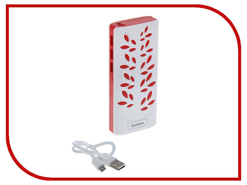 Аккумулятор Luazon 3 USB 1А 7200 mAh White-Red 1219928<br>
