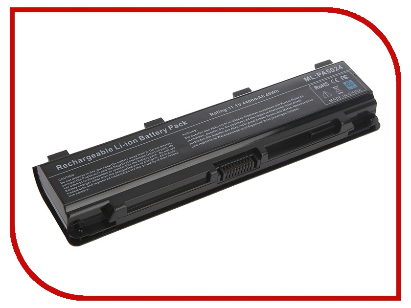 Аккумулятор Tempo LPB-PA5024 10.8V 4400mAh for Toshiba Satellite C800/C840/C850/C870/L800/L805/L830/L835/L840/L845/L855/M800/M845/P800/P850/P870/S840/S875 Series