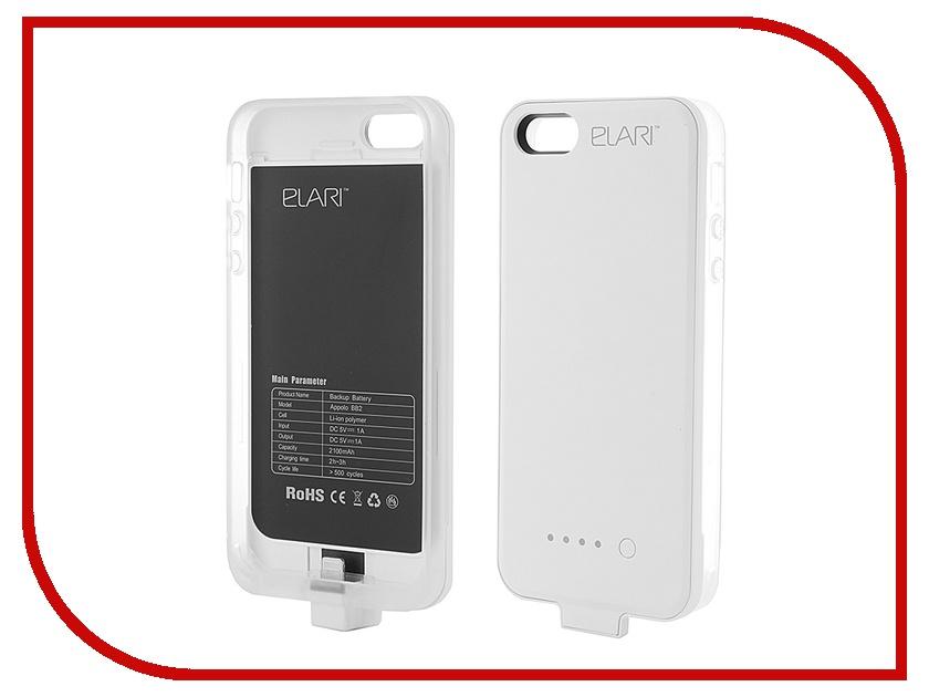 Аксессуар Чехол-аккумулятор Elari Appolo BB2 для iPhone 5 White<br>