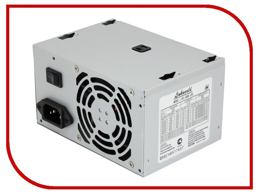 Блок питания LinkWorld ATX 350W Case Version LW2-350W