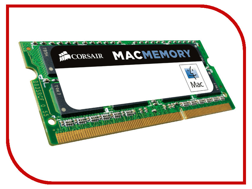 Модуль памяти Corsair Mac Memory DDR3 SO-DIMM 1333MHz PC3-10600 CL9 - 4Gb CMSA4GX3M1A1333C9 jzl memoria pc3 10600 ddr3 1333mhz pc3 10600 ddr 3 1333 mhz 8gb lc9 240 pin desktop pc computer dimm memory ram for amd cpu