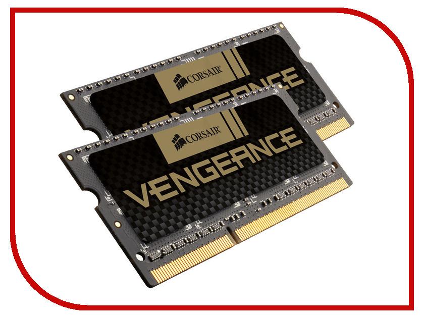 Модуль памяти Corsair Vengeance DDR3 SO-DIMM 1866MHz PC3-15000 CL10 - 8Gb KIT (2x4Gb) CMSX8GX3M2B1866C10
