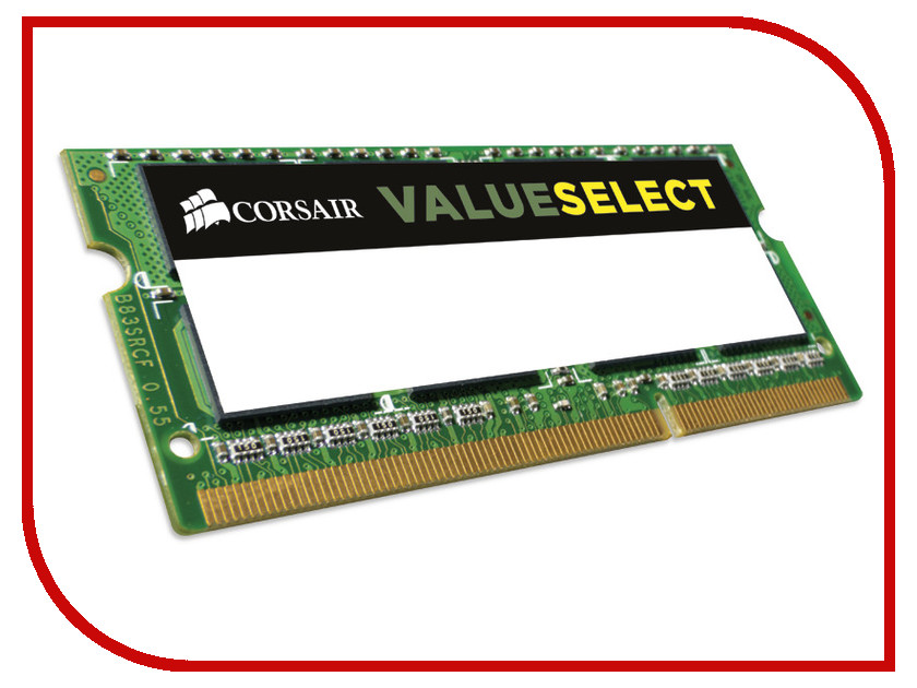 Модуль памяти Corsair ValueSelect DDR3 SO-DIMM 1600MHz PC3-12800 CL11 - 8Gb CMSO8GX3M1C1600C11