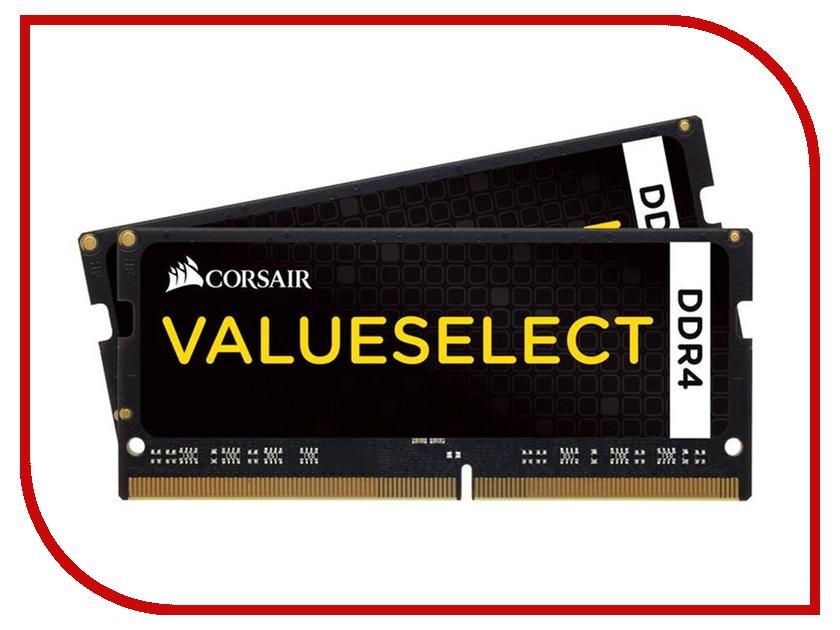 Модуль памяти Corsair ValueSelect DDR4 SO-DIMM 2133MHz PC4-17000 CL15 - 8Gb (2x4Gb) CMSO8GX4M2A2133C15<br>