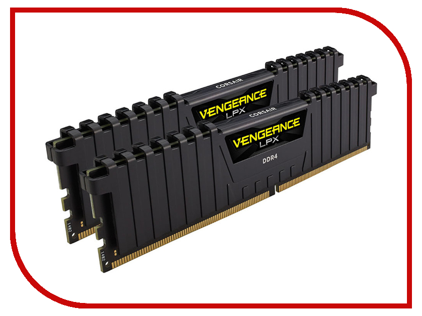 Модуль памяти Corsair Vengeance LPX DDR4 DIMM 2133MHz PC4-17000 CL13 - 16Gb KIT (2x8Gb) CMK16GX4M2A2133C13 модуль памяти corsair vengeance lpx cmk32gx4m4b3733c17r ddr4 4x 8гб 3733 dimm ret