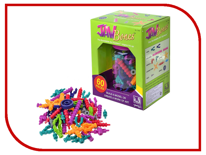 Игрушка Конструктор Jawbones 7002 В банке для хранения<br>
