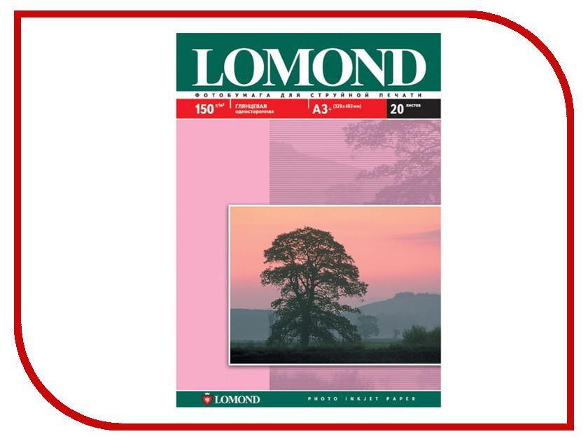 Фотобумага Lomond 0102026 White глянцевая 150g/m2 A3 20 листов фотобумага lomond a3 1106302 1106302