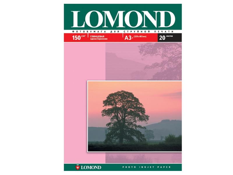 Фотобумага Lomond A3 150g/m2 глянцевая 20 листов White 102026
