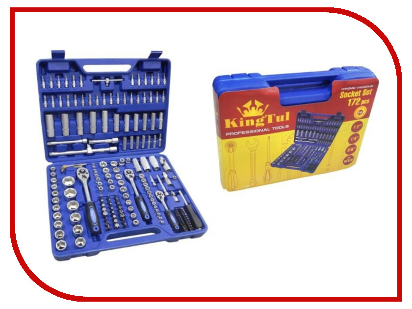 Набор инструмента KingTul KT172 набор инструмента force 4772
