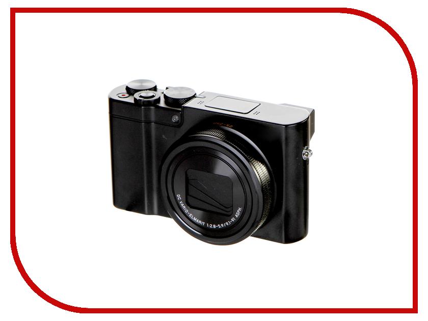 Фотоаппарат Panasonic DMC-TZ100EE-K Black automatic lens cap for panasonic dmc lx3