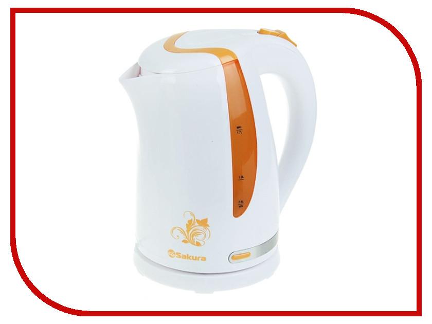Чайник Sakura SA-2318A White-Orange<br>