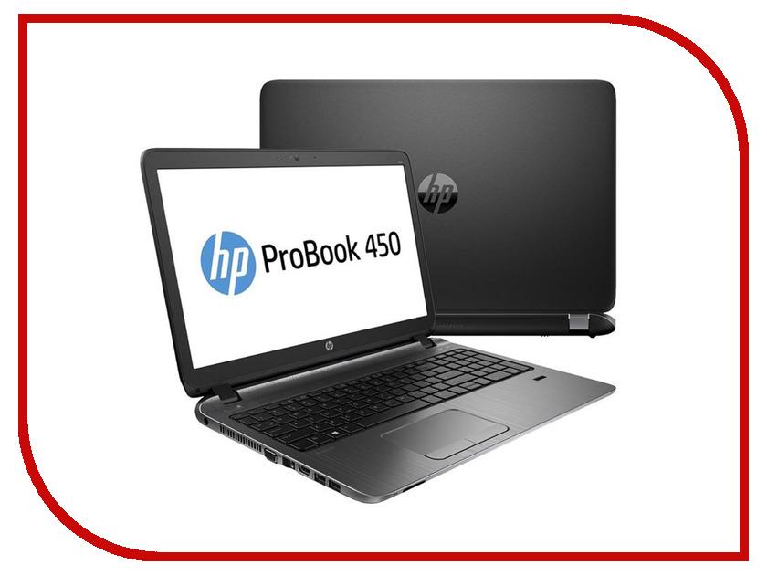 Ноутбук HP ProBook 450 G3 P4P38EA Intel Core i3-6100U 2.3 GHz/4096Mb/500Gb/DVD-RW/Intel HD Graphics/Wi-Fi/Bluetooth/Cam/15.6/1366x768/Windows 7 64-bit 345507<br>