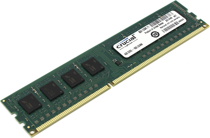Модуль памяти Crucial DDR3L DIMM 1600MHz PC3-12800 CL11 - 4Gb CT51264BD160B(J)