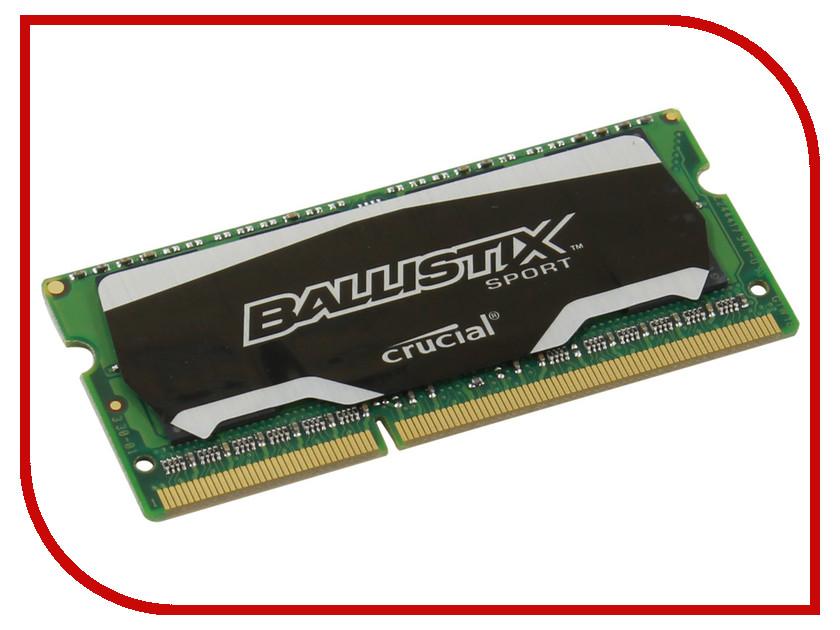 ������ ������ Crucial Ballistix Sport PC3-12800 SO-DIMM DDR3 1600MHz CL9 - 4Gb BLS4G3N169ES4CEU<br>